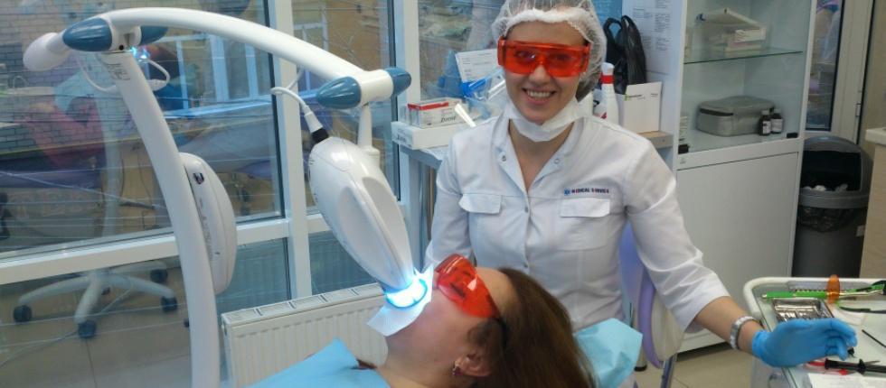 отбеливание зубов ультрофиолетом