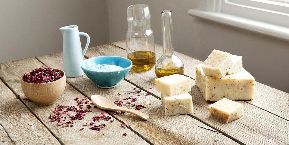 основные ингридиенты для приготовления мыла холодным способом
