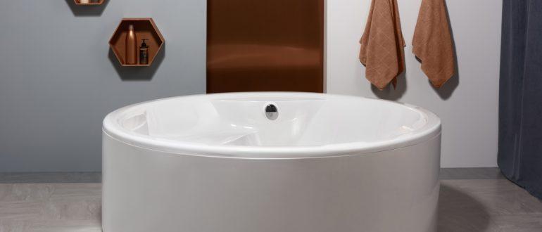 круглая форма акриловой ванны