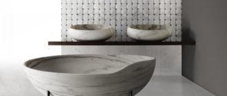 маленькая ванна круглой формы
