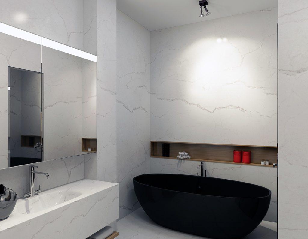 черная литая ванна