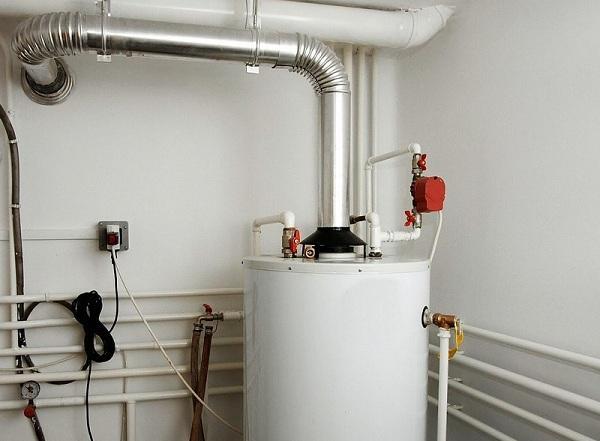 газовый водонагреватель с установкой на пол