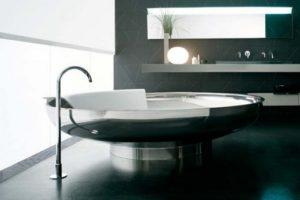 Круглая стальная ванна