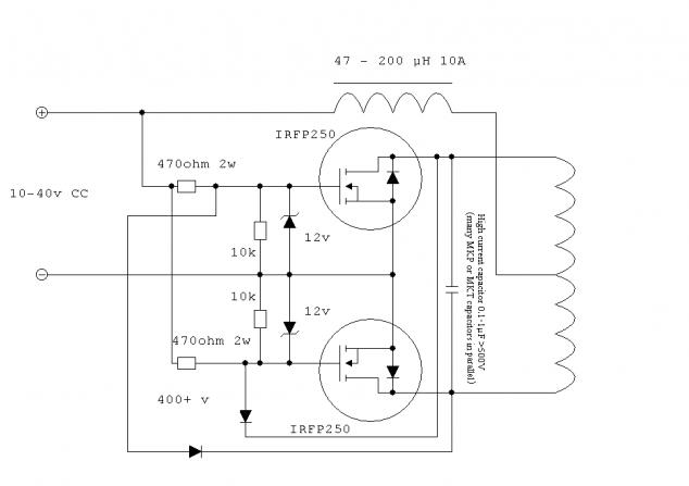 схема сборки индукционного водонагревателя