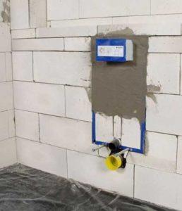 подготовка стены к установке подвесного унитаза