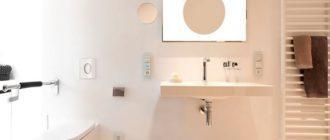 инсталляция для раковины в интерьере ванной