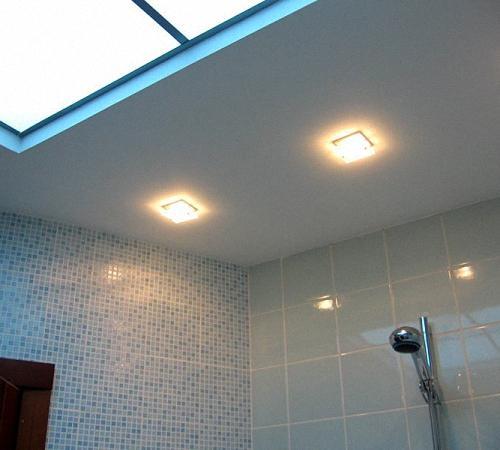 Точечные светильники в ванную