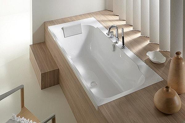 крепление акриловой ванны на пьедестал