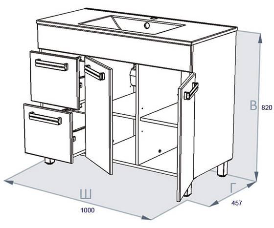 Схема установки раковины