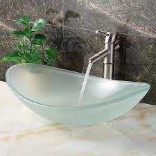 Матовая стеклянная раковина