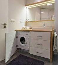 тумба под стиральную машину с раковиной