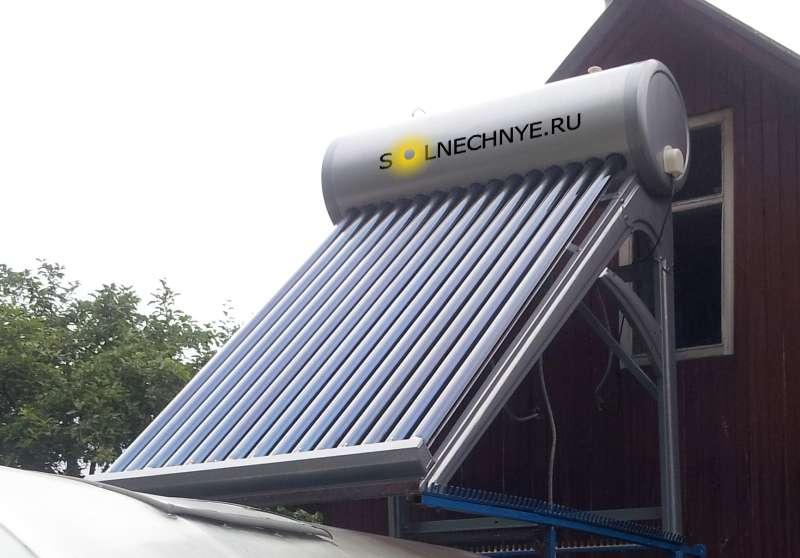 Солнечный проточный водонагреватель