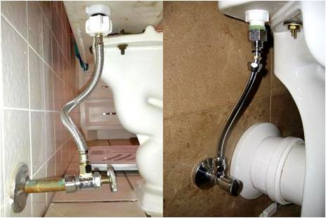 Подсоединение унитаза к водопроводу