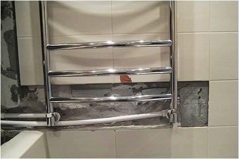 Подсоединение полотенцесушителя к трубам из пластика