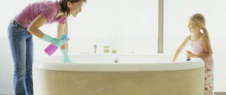 Чем отмыть чугунную ванну