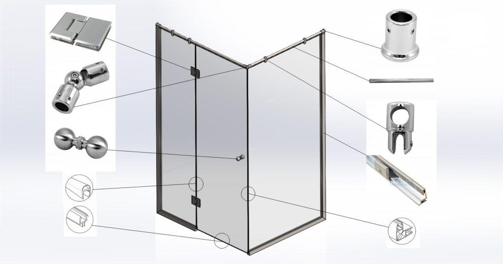 Фурнитура стеклянной кабины